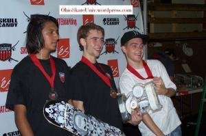 2nd place Doug Mares,1st place Chris McHugh,and 3rd place John Todd